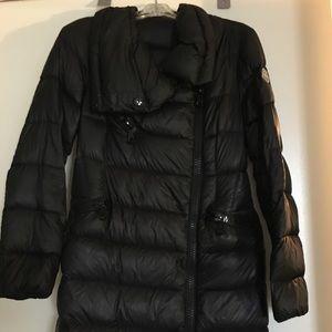 Moncler black side zip puffer- moncler size 0